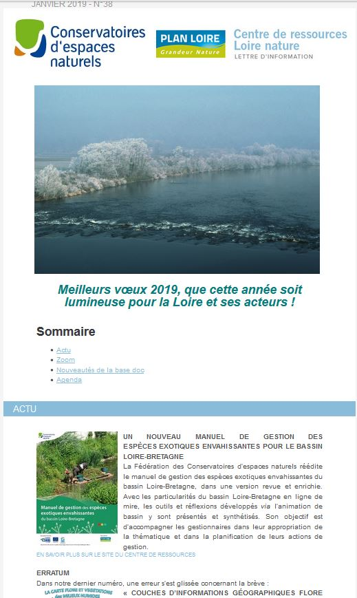 Lettre Dinformations Centre De Ressources Loire Nature