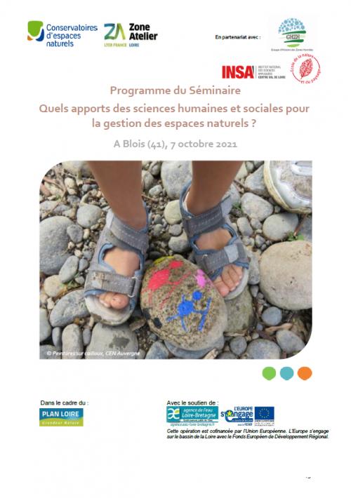 """Séminaire """"Quels apports des sciences humaines et sociales pour la gestion des espaces naturels"""" ? 7 octobre 2021"""