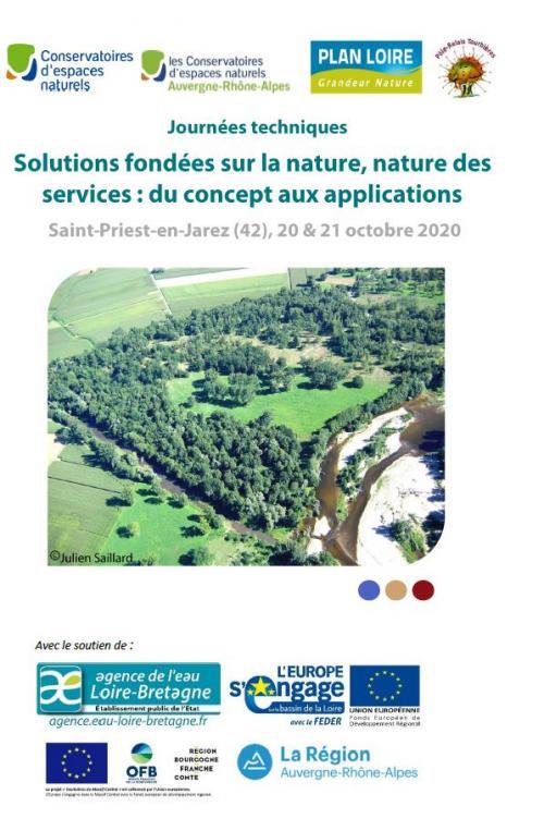 Solutions fondées sur la nature, nature des services : du concept aux applications. Saint-Priest-en-Jarez (42), 20-21 octobre 2020